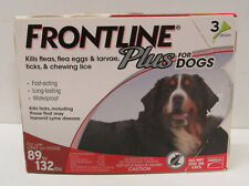 Frontline Plus Dog Flea and Tick Xl Dog Treatment 89 to 132 lbs 3 Doses
