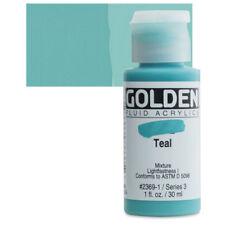Golden® Fluid Acrylics 1oz. Teal - 1 oz 23691 Ser 3 NEW