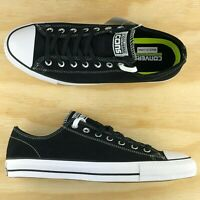 Converse Chuck Taylor All Star Pro Ox Black White Low Top Skate Shoes 144585C Sz