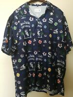 Beggars Pizza Chicago White Sox Men's Hawaiian Style Shirt XL Blue Short Sleeve