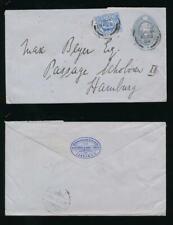 Gb Ke7 1904 Stationery 2 1/2d Uprated 2 1/2d to Hamburg Bank of India Envelope