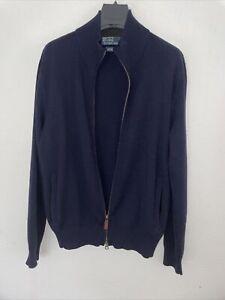 Polo Ralph Lauren Men Slim Merino Wool Sweater Blue (L) VGC
