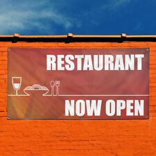 Vinyl Banner Sign Restaurant Now Open Restaurant Cafe Bar Marketing Advertising