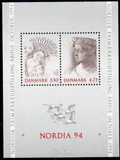 "Denmark MNH 1992 Scandinavian Stamp Exhibition ""NORDIA 94"" M/S"