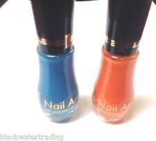 Lot Of 2 Milani Nail Art With Precision brush 707 Blue Print 711 Orange Graph