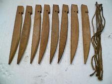 Lot de 8 piquets de tente Armée Française 14/18 39/45 WW1 WW2 Poilus Tranchées