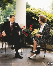 Margaret Thatcher Ronald Reagan President 10x8 Photo