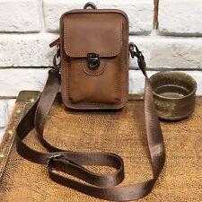 Men's PU Leather Belt Buckle Small Shoulder Messenger bag Fanny Pack Waist Sling