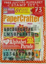 Papercrafter Card Tricks Ideas Tips Alphabet Stamp Set #94 2016 FREE SHIPPING JB