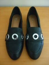 WOMEN'S WITTNER HELENE BLACK MILLED LEATHER SHOES - SIZE 42