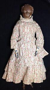 Antique Large Joel Ellis Wood Doll