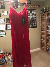 Anna-Kaci Red Disco Dress - Super Groovy - Size S