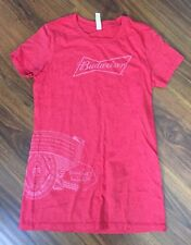 Budweiser Beer Lover Red Women's Scoop Neck Short Sleeve T Shirt Sz M
