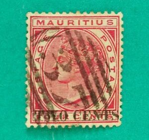 Mauritius 1885 4c Queen Victoria Stamp Used British