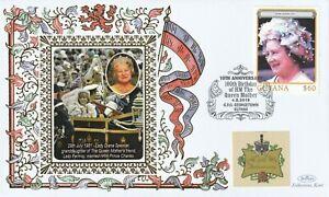 GUYANA 2010 QUEEN MOTHER 10th ANNIVERSARY OF HER 100th BIRTHDAY BENHAM COVER g