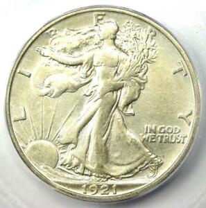 1921-S Walking Liberty Half Dollar 50C Coin - Certified ICG AU50 - Rare Date!