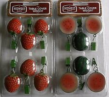 Patio Table Cover Weight Assortment Strawberries/Watermelon [Your Choice]