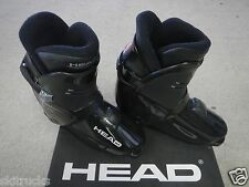 HEAD, REAR ENTRY,  RR8,  BLACK / SILVER DOWN HILL SKI BOOTS, size 27, easiest