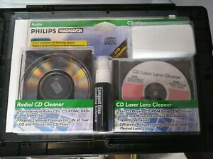 Philips Magnavox PM62030 CD/DVD 4 In 1 Complete Cleaning System Sealed New