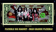 KISS BAND 4 IMAN BILLETE 1 DOLLAR BILL MAGNET LOVE GUN DESTROYER ROCK OVER