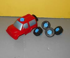 Vintage Fisher Price Action Sounds Garage #2084 Replacement Parts - Tires & Car