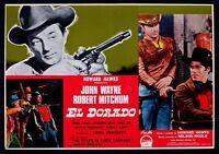 T89 Fotobusta El Dorado John Wayne Robert Mitchum Howard Hawks RAR 1967 C
