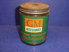 Vintage GM Accessories Chrome Protective Sealer Glass Jar 8oz 986680 CT17