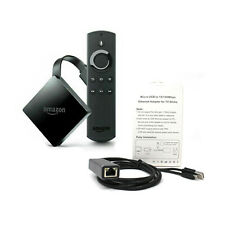 Amazon Fire TV 4K Ultra HD,Alexa Voice Remote | Premium 100Mpbs Ethernet Adapter
