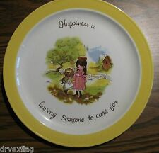 "1970s ""Happiness is having Someone to care for"" 10"" Plate by Laura #76422"