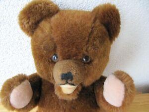 EBO klassischer Teddy Bär braun  43 / 32 cm Plüschtier Stofftier Kuscheltier