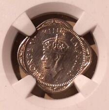 1946 C India 1/2 Anna NGC UNC DETAILS CLEANED - Copper-Nickel