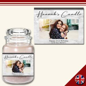 Personalised Photo Candle Label Custom Sticker Fun Gift Present Birthday Friend