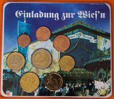 3er Satz aus 2003 Oktoberfest Wiesn, privater Euro KMS Komplettsatz v. Motive