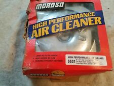2 Nos Vintage Chrome Moroso Dual  Air Cleaners Chevy Pontiac Oldsmobile Buick