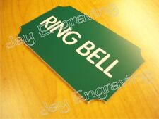 Engraved RING BELL 3x5 Door Sign   Small Business Home Office Wall Plaque Signs