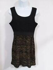 H&M Women's Size M Medium Black & Gold Sleeveless Coctail Prom Fancy Dress