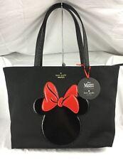NWT Kate Spade Disney Minnie Mouse Francis Black Tote Bag Shopper