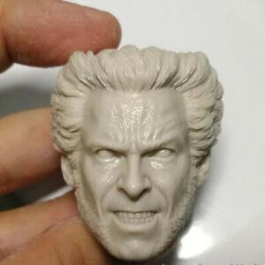 Blank Hot 1/6 Scale Wolverine The X-Men Hugh Jackman Head Sculpt Unpainted