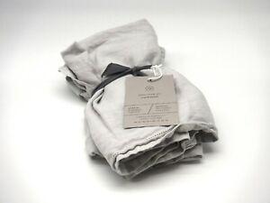 The Citizenry Stonewashed Linen Pillow Shams, King Size, Set of 2, Light Grey
