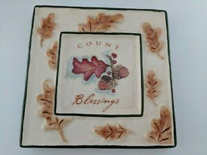 Count Blessings - handpainted ceramic wall plaque by Russ Berrie
