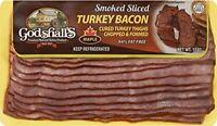 Godshall's Sliced Maple Turkey Bacon 12 Oz (4 Pack)