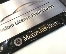 2PC License Plate Frame for MERCEDES-BENZ Matte Black B C CLA E G GL GLE ML S SL