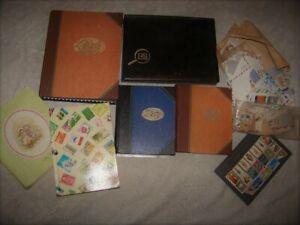 Lot de 6 albums  ancien de timbres + divers en vrac.....
