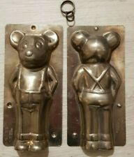 MICKEY MOUSE TIN PEWTER DUTCH CHOCOLATE MOLD MOULD VINTAGE ANTIQUE