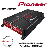 Pioneer GM-A6704 - 4-Channel Bridgeable Amplifier 1000W Speakers Or Sub Amp New