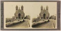 Marsella La Catedral Francia Foto Estéreo PL53L4n14 Vintage Analógica c1900