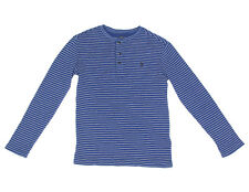 POLO RALPH LAUREN Boys Blue White Stripe Long Sleeve Shirt size Medium 10-12