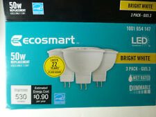 New Ecosmart 50 watt light bulbs led bright light 3 pack gu5.3 dimmable 2 pin