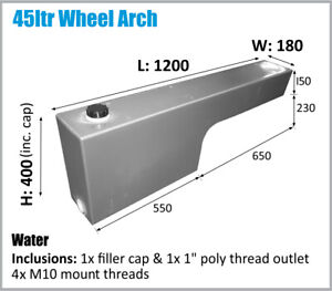 Dual Cab Hilux Etc 4X4 Ute Wheel Arch Water Tank 4x4. 45L Styleside Oz Made 4wd