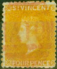 More details for st vincent 1869 4d yellow sg12 fine used
